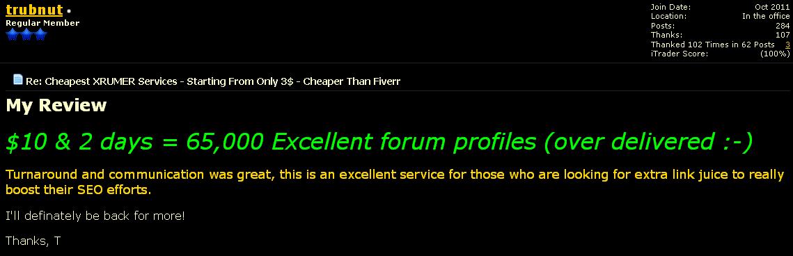 xrumer services